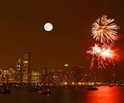 Fireworks on Lake Michigan
