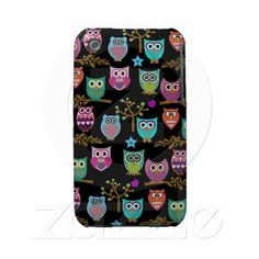 Changeable background owls case-mate iphone 3 cases