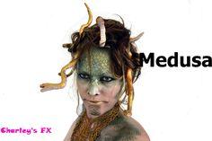Medusa makeup With Head piece