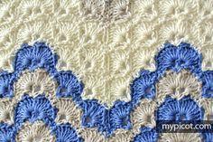 Crochet Ripple Shell Stitch | MyPicot | Free crochet patterns