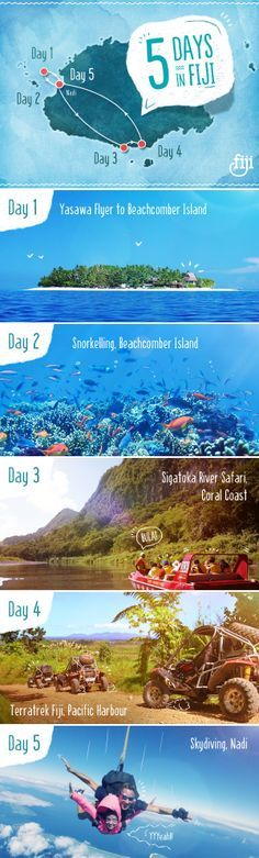 Have 5 days in #Fiji and wondering what to do? Don't worry - We've got it covered! #BackpackFiji