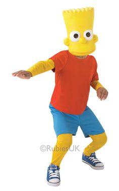 Lasten naamiaisasu: Bart Simpson  Lisensoitu Bart Simpson -asu lapsille.  Naamiaisasu sisältää: - paita - housut - naamio
