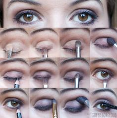 Brown eyes make up tutorial