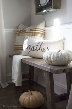 Dining Room Bench - Fall - Rustic and Woven
