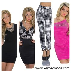 Vestidos de fiesta economicos, leggings, pantalones de chica. Compra en España.  www.xeitosomoda.com