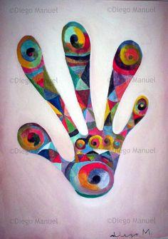 """""""La Mano 2"""", acrylic on canvas, 31 x 43 cm. By Diego Manuel"""