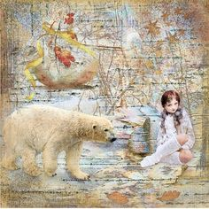 L'INATTENDU created with Foxeysquirrel's material and main kit used is SHIVER Polar Bear, Kit, Animals, Animales, Animaux, Animal, Polar Bears, Animais