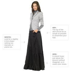 Good for winter, but not frumpy - maxi skirt, blazer, turtleneck