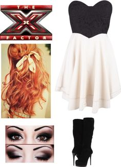 """""""my xfactor outfit //singing\\"""" by hnmonkey ❤ liked on Polyvore"""