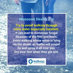 #Monsoon #hygiene #HealthTip by #Indivac