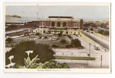 Tinted Postcard by A B Hurst & Son of Railway Station Auckland - 45572 - Postcard - Postcards Hurst - Postcards By Photographer - EASTAMPS Auckland New Zealand, Postcards, Painting, Painting Art, Paintings, Painted Canvas, Drawings, Greeting Card