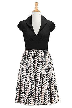 I <3 this Textured print block dress from eShakti