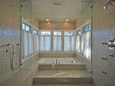 Master bath in Austin vacation rental. This whole room is a shower. Speechless.