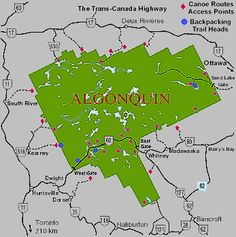 Algonquin Provincial Park, The scariest camping trip ever! Algonquin Indian, Algonquin Park, Vacation Ideas, Vacation Spots, Camping Honeymoons, Ontario Provincial Parks, Backpacking Trails, Ontario Parks, Ontario Travel