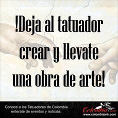 deja al tatuador crear