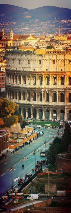 A city of majestic structures At the Colesseum In historic Rome, Italy.At the Colesseum In historic Rome, Italy. Rome Travel, Italy Travel, Places Around The World, Travel Around The World, Places To Travel, Places To See, Italy Destinations, Romantic Destinations, Romantic Travel