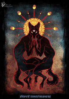 Wolf, Arte Horror, Psychedelic Art, Occult, Dark Art, Art Inspo, Third Eye, Art Reference, Character Art