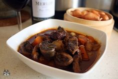 Airinie Cooks: Her Eclectic Kitchen: Beef in Red Wine (Boeuf Bourguignon)