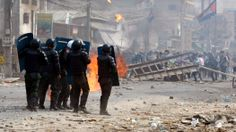 Cambodian Police Fire on Protesters as Clashes Turn Violent