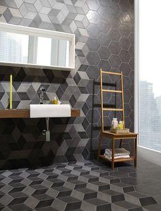 Serie Concret Rombo Vigeland. Hexagoner i format 22,5x26, cm