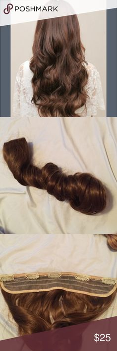 Hair Extensions 1 solid piece. 73 cm. Beautiful synthetic hair. New. Accessories Hair Accessories