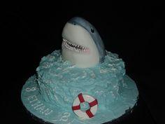 shark birthday cake!
