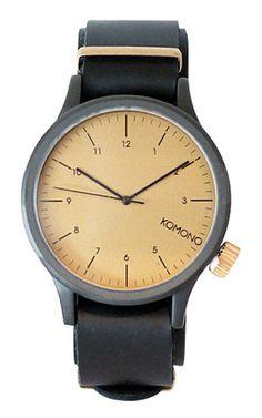 Magnus Black Gold - Gratis verzending - KOMONO Horloges - 10:35 Horlogeboetiek - Een Geselecteerde Collectie Horloges