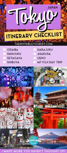 My 6 Days in Tokyo itinerary explores 9 wards, covers costs, things to do, where to stay & BONUS Mt Fuji day trip info. Perfect for a first time! Japan Travel Guide, Tokyo Travel, Asia Travel, Travel Tips, Travel Advice, Tokyo Vacation, Tokyo Trip, Travel Articles, Travel Goals