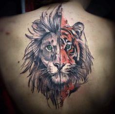 tatouage-tigre-dos-lion.png (590×586)