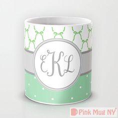 Personalized mug cup designed PinkMugNY  Ribbon & by PinkMugNY, $11.95