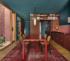 Colorful Interior Design, Colorful Interiors, Formica Table, Carpet Brands, Italian Furniture Brands, Modern Retro, Club Chairs, Elle Decor, Table Furniture