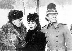 "Luchino visconti, Romy Schneider et Helmut Berger sur le tournage de ""Ludwig"" 1973"