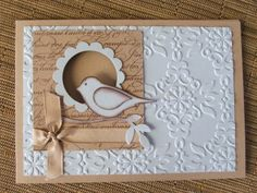 Bird card. Another idea for those paint chips with the little square hole.