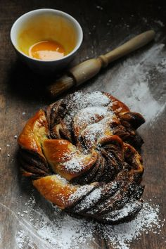 Rolled puff pastry with Nutella…