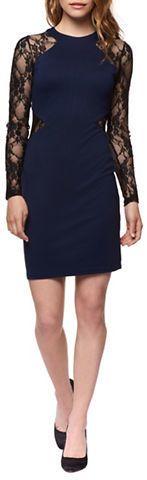 Dex Lace-Sleeve Sheath Dress