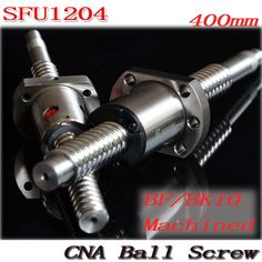 1pcs Ball screw SFU1204 - L 400mm+ 1pcs RM1204 Ballscrew Ball nut with standard processing for BK10 / BF10 Free Shipping #Affiliate