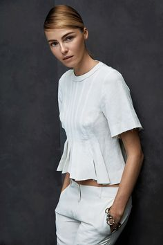 Photo of model Valentina Zelyaeva by Hans Neumann for Harper's Bazaar Latin America, January 2014 issue.