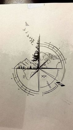 ▷ 1001 + ideas for a beautiful and meaningful compass tattoo 65 ideas . - ▷ 1001 + ideas for a beautiful and meaningful compass tattoo 65 ideas for a … – ▷ 1001 + id - Nautical Compass Tattoo, Small Compass Tattoo, Compass Art, Compass Tattoo Design, Mens Compass Tattoo, Tattoo Small, Compass Drawing, Mandala Compass Tattoo, Nautical Tattoos