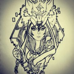 Midna with wolf link design