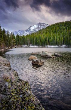 Bear Lake, an easy, family friendly hike in Rocky Mountain National Park, Estes…