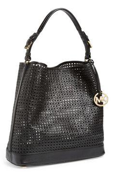 'Large Bridget' Cutout Leather Shoulder Bag