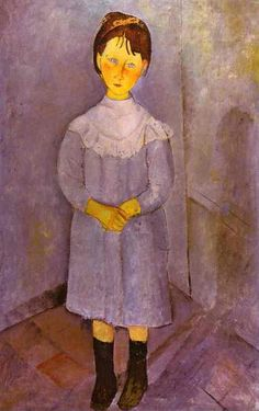 Little Girl in Blue. 1918. Oil on canvas. 116 x 73 cm. Private collection.