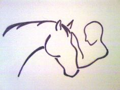Risultati immagini per horse logos Horse Drawings, Animal Drawings, Horse Sketch, Horse Logo, Horse Pictures, Horse Art, Skin Art, Animal Tattoos, Line Drawing