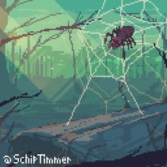"""#Spider ️️ for today's @Pixel_Dailies @aseprite #pixel_dailies #pixelart #digitalart #aseprite #indiedev #gamedev ☕️☀️ https://t.co/el7VoeVLHe"""