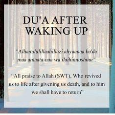 Dua after waking up Duaa Islam, Islam Hadith, Islam Muslim, Allah Islam, Islam Quran, Alhamdulillah, Islamic Prayer, Islamic Teachings, Islamic Dua