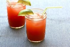 Strawberry cucumber agua fresca