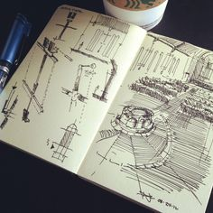 #coffeesketch | channelling an #architecture hero, Carlo Scarpa for a small church renovation 08.24.12