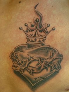 33 Best Crown Tattoo With Heart Images Crown Tattoos Heart Tattoo