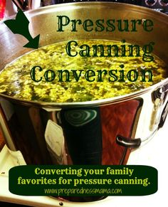 Pressure Canning Conversion #Menu options. Please make sure #all #ingredients are #glutenfree.