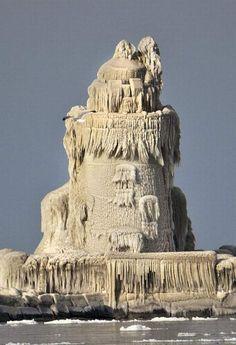 frozen lighthouse!